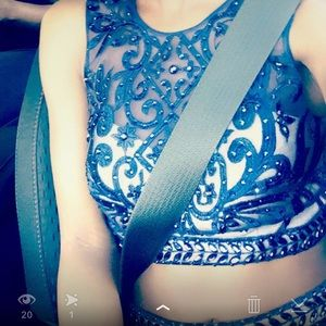 Navy Blue Prom Dress💖